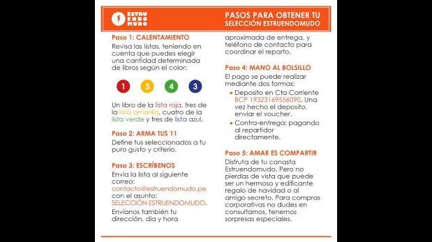 Los pasos para comprar el pack de Estruendomudo. (Foto: Facebook)