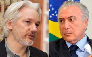 Assange: El presidente de Brasil fue informante de EE.UU.