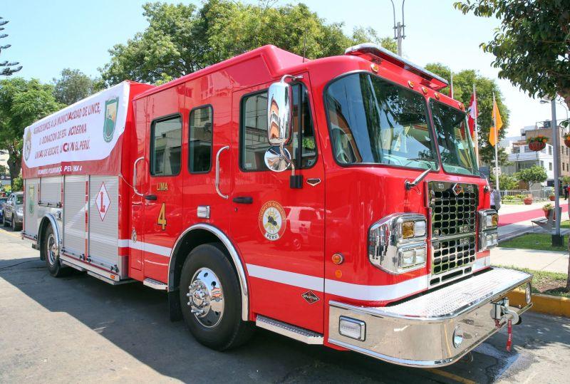 Se trata de un camión 0 kilómetros diseñado exclusivamente para tareas de rescate (bajo la norma NFPA 1901) y fabricado en Estados Unidos. (Foto: Andina)