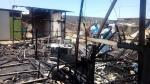 Áncash: fuego arrasa con cinco viviendas en Nuevo Chimbote - Noticias de nuevo chimbote