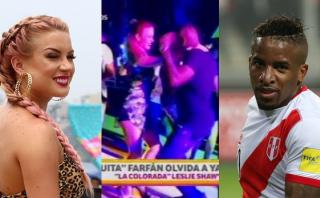 Jefferson Farfán, grabado bailando con Leslie Shaw [VIDEO]