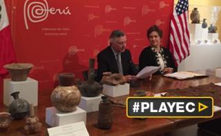 Estados Unidos devuelve 404 reliquias hurtadas a Perú [VIDEO]