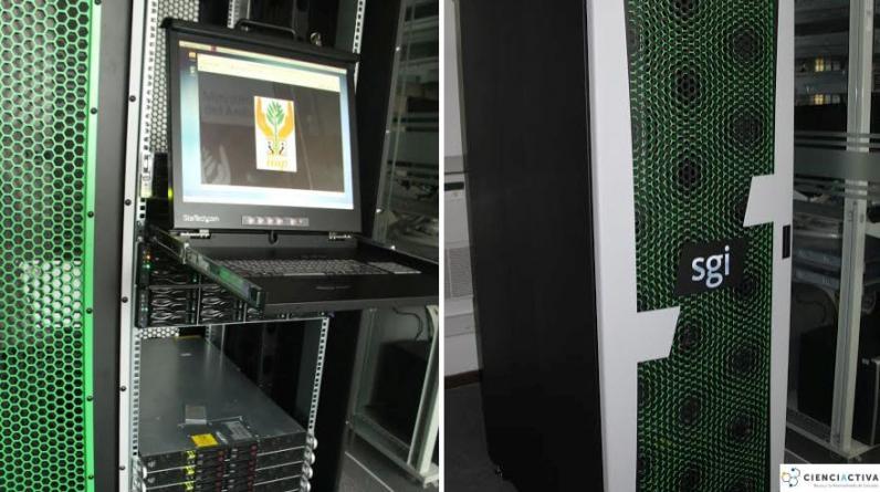 La supercomputadora del IIAP que recoge imágenes del satélite. (Foto: Instituto de Investigaciones de la Amazonía Peruana)