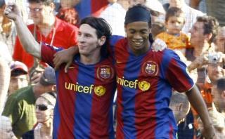 Ronaldinho y la emotiva carta en la que habla de Lionel Messi