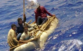 """Cubanos desesperados por el fin de """"pies secos / pies mojados"""""""