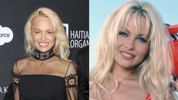 Las diferencias entre la Pamela Anderson actual y la de finales de los ochenta. (Fotos:AP/ Agencias)