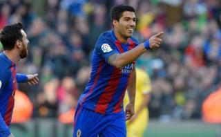 Barcelona: Luis Suárez marcó doblete ante Las Palmas [VIDEO]