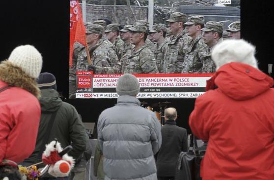 Así fue la bienvenida que Polonia dio a tropas estadounidenses