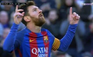 Lionel Messi anotó el segundo del Barcelona ante Las Palmas