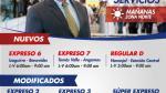 Metropolitano: así cambiarán los servicios desde el lunes 30 - Noticias de javier palma