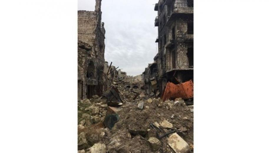 Un sombrío recorrido por Alepo, en ruinas tras 6 años de guerra