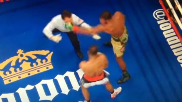 Árbitro quiso separar a los boxeadores y recibió un brutal golpe — YouTube