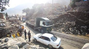 Caída de huaicos bloquean vías en Junín, Huánuco y Ayacucho