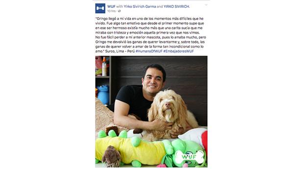 Yirko y Gringo en la publicación de 'Humans of WUF' en el muro de Facebook de WUF: