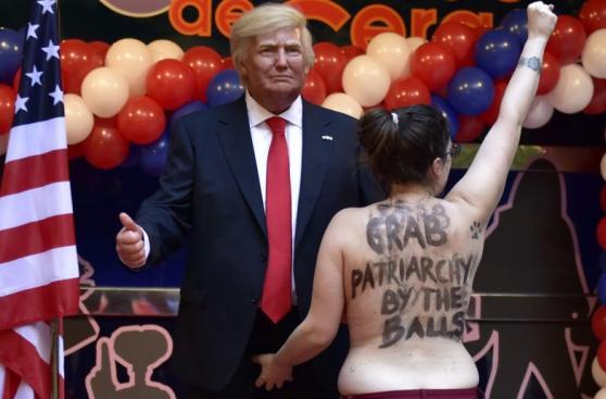 Trump: Femen boicoteó llegada de su estatua de cera a Madrid