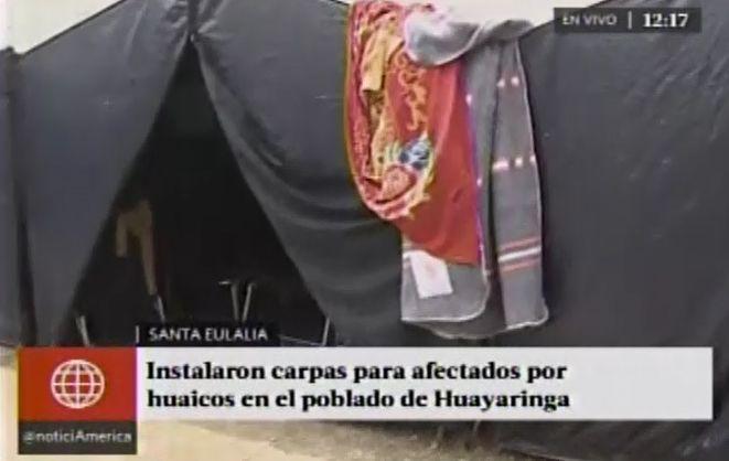 Son 170 las familias damnificadas por los huaicos en Santa Eulalia, Chosica, Ricardo Palma y Chaclacayo. (América TV)