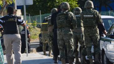 Despliegue militar tras el ataque contra la fiscalía de Cancún