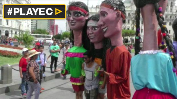 Limeños celebran con pasacalle el aniversario de Lima. (Video: EFE)