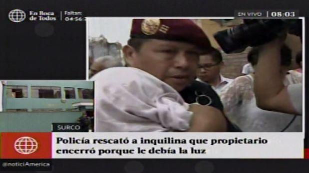 Fueron los vecinos del jirón Arica en Surco los que avisaron a la policía y serenazgo. (América Televisión)