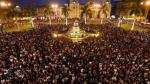 Aniversario de Lima: miles celebraron en la Plaza de Armas - Noticias de marco barraza