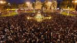 Aniversario de Lima: miles celebraron en la Plaza de Armas - Noticias de fundacion romero