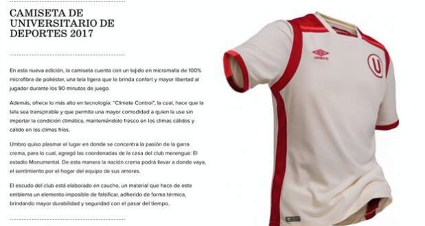 [Foto] Universitario: se presentó oficialmente nueva camiseta crema