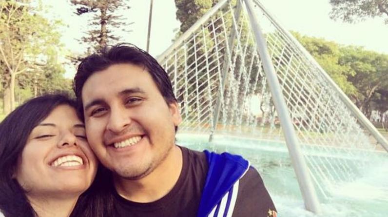 """Aracelli Pariona: """"Mi lugar favorito en Lima, junto a mi novio Joel Quiros, es el Parque de las Aguas"""". (Foto: WhatsApp)"""