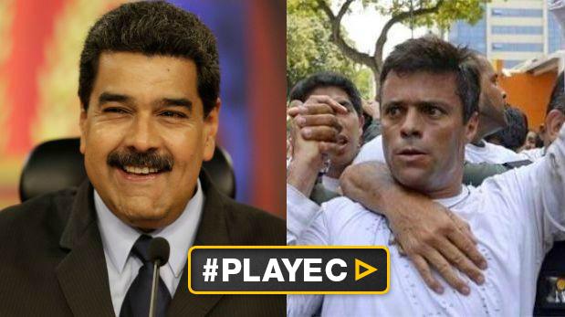 Nicolás Maduro, presidente de Venezuela, y el líder opositor Leopoldo López. (Foto: Reuters-AFP /Video: AFP)