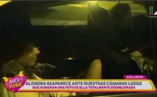Alondra García Miró reapareció y le preguntaron por Paolo