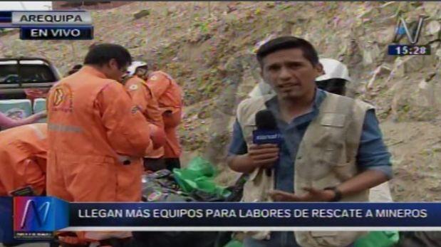 Siete mineros permanecen atrapados en mina Las Gemelas, Arequipa, desde hace tres días. (Video: Canal N)
