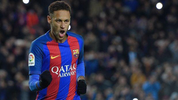 Neymar anotó el único tanto del partido entre la Real Sociedad y Barcelona (Foto: AFP)