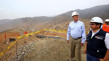 PPK supervisó obras de agua y desagüe en Huarochiri [FOTOS]