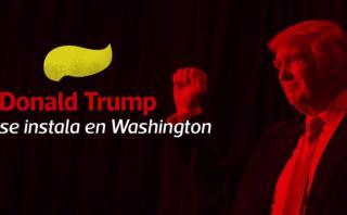 Trump se instaló en Washington para ser presidente de EE.UU.