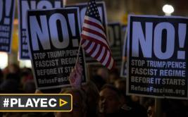 """Llaman a una """"resistencia pacífica"""" contra gestión de Trump"""