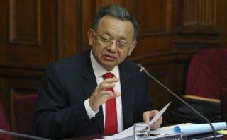 """""""Fácilmente en esos 22 informes largamente hay más de 150 personas, incluidas ex ministros, personas naturales y jurídicas"""", detalló Edgar Alarcón. (Foto: Congreso)"""