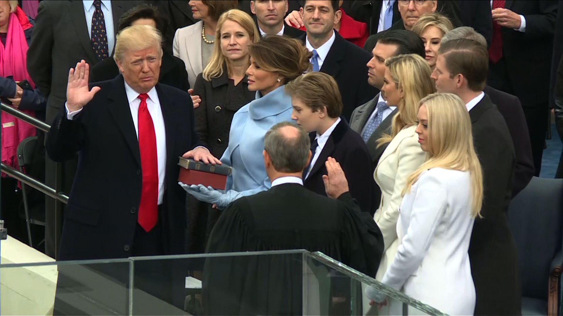La juramentación de Donald Trump como presidente de EE.UU.