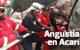 Bomberos se retiran de mina en la que siete quedaron atrapados