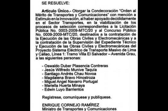 Odebrecht: detienen a ex titular del comité para metro de Lima