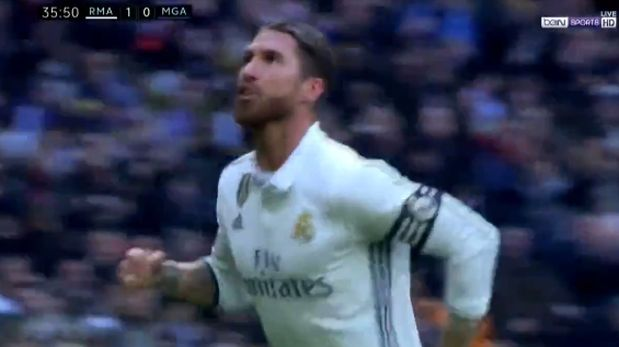 Real Madrid: Sergio Ramos anotó golazo de cabeza al Málaga. (Video: YouTube)