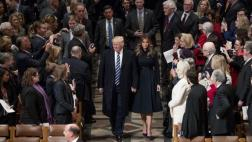 Donald Trump asistió a acto religioso en catedral de Washington