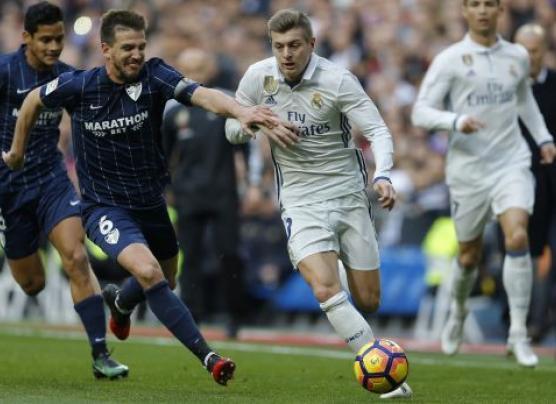 Real Madrid venció 2-1 ante el Málaga por la Liga Española