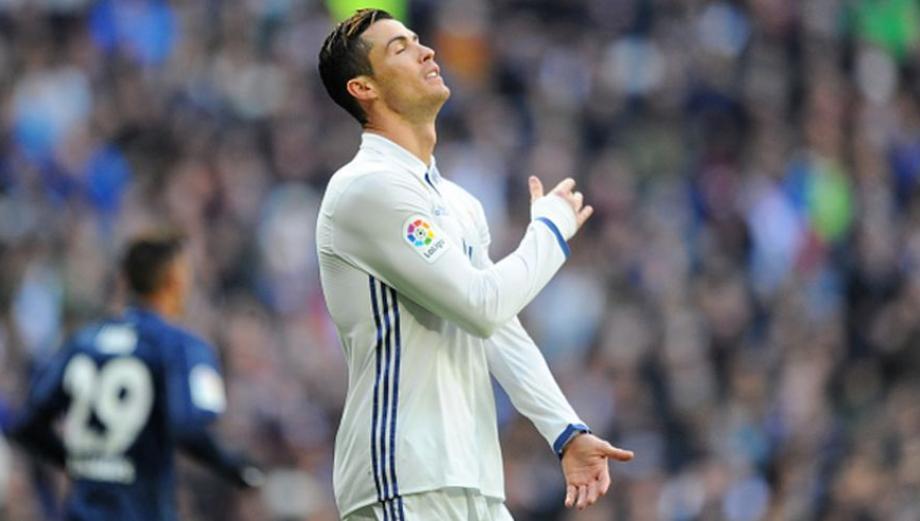 Cristiano Ronaldo y sus lamentos en el partido contra Málaga