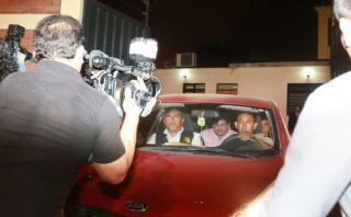 Edwin Luyo (centro) fue detenido preliminarmente por su conexión con presuntas coimas por el Metro de Lima Línea 1. (Foto: Lino Chipana/ El Comercio)