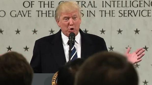 Donald Trump visitó la CIA en su primer día como presidente