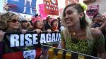 Scarlett Johansson y las famosas que marcharon contra Trump - Noticias de alicia keys
