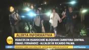 Huarochirí: Reportan huaico y cierre de la Carretera Central