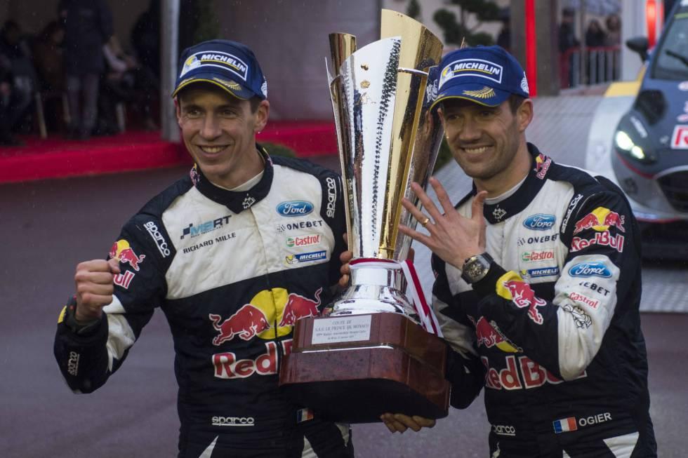Sebastien Ogier ganó el Rally Montecarlo, primera fecha del WRC. (foto: Red Bull)