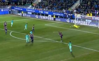 Barcelona abrió el marcador ante Eibar con este potente remate