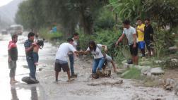 Chaclacayo: imágenes del nuevo huaico que inundó las vías