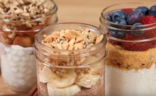 YouTube: tres originales desayunos salubles en frascos [VIDEO]